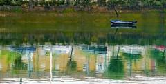 La laguna estigia (alfonsocarlospalencia) Tags: laguna estigia caronte barrio pesquero santander maría jesús reflejos acuarela pintura verde bote irrealidad cuadro solitario pinceladas