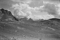 Albula Alps (vladixp) Tags: fp4 fp480 d76 14min 20c 12 praktica mtl5 flektogon k2 pf7250u 3600dpi 35mm fp4plus yellowfilter filmscan 35mmfilm film bw bwfilm filmphotography negative scanned ilford graubünden grigioni grisons svizzera schweiz switzerland suisse alpi alps alpen