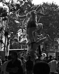 Ganesha stepping out of the studio (magiceye) Tags: ganesha idol studio pandal transit parel mumbai india monochrome blackandwhite streetphoto