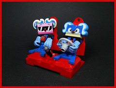 Kitty gets an Update (Karf Oohlu) Tags: lego moc figure unikitty seat carseat steeringwheel hairstyle