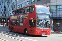 AL T124  West Croydon bus station (ianjpoole) Tags: arriva london alexander dennis enviro 400 lj10hvd t124 working route 198 shrublands bramble close spring park talbot road thornton heath