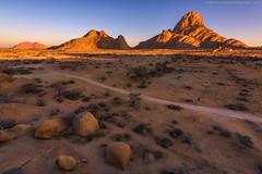 Early Start @ Spitzkoppe, Namibia (Avisekh) Tags: namibia spitzkoppe sunrise rock early golden nikon wwwavisekhphotographycom d810 1424 tripod rrs lee gnd