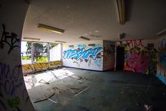 Everybody's Getting Old (Thomas Hawk) Tags: america california cossonhall sf sagehall sanfrancisco starburst ti treasureisland usa unitedstates unitedstatesofamerica abandoned barracks decay graffiti fav10