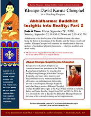 Treasury of Abidharma part 2 a Khenpo Karma Choephel Sep 2018