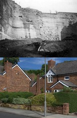 Woolton Quarry, Woolton, 1927 and 2018 2 (Keithjones84) Tags: liverpool oldliverpool thenandnow rephotography
