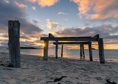 Hamelin Bay Sunset (RoamingSkies) Tags: beach ocean sunset wa australia sand sky clouds landscape wide canon