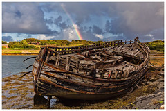 Rainbow (Antony Ward) Tags: scotland isleofmull boat wreckedboat weather rainbow innerhebrides