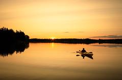 sunset in a kayack (Antti Tassberg) Tags: 24mmts kesä landscape pitkäjärvi auringonlasku ilta laaksolahti kanootti silhouette espoo järvi reflection 24mm aurinko canoe evening kayak lake lens prime sun sundown sunset tiltshift twilight uusimaa suomi fi
