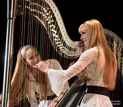 Harp Twins @ Ballard Homestead (Kirk Stauffer) Tags: kirk stauffer photographer nikon d5 adorable amazing attractive awesome beautiful beauty charming cute darling fabulous feminine glamour glamorous goddess gorgeous lovable lovely perfect petite precious pretty siren stunning sweet wonderful young female girl lady woman women live music tour concert show stage gig singer vocals vocalist musician band lights lighting indie classic rock heavy metal cover long blonde hair bangs red lips blue eyes white teeth model tall fashion style portrait photo smile play playing