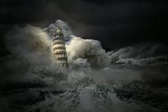 Maltempo in Toscana (Zz manipulation) Tags: art ambrosioni zzmanipulation pisa toscana pioggia maltempo onda acqua nubi
