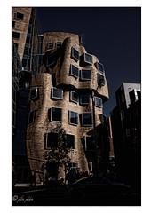 paperbag building (Peter Polder) Tags: building architecture dusk sunset university sydney