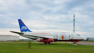 Boeing 737-2H4 c/n 23110 registration 5N-TSA preserved in Ploiești, Romania