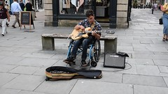 DSC_0026 (richardclarkephotos) Tags: simon john from cornwall guitar busking tour south england bath somerset uk spotty herberts signwriting guitarbitz cafe shops small retailers guildhall marketowl owls minerva