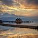 August Sunset Reflection at Mono Lake