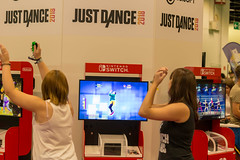 Visitors playing Just Dance at Gamescom 2018 (marcoverch) Tags: e3 cologne deutschland kölnmesse messe fusball zocken games germany computerspiele gamescom cosplay 2018 köln gaming indoors drinnen people menschen woman frau education bildung exhibition ausstellung adult erwachsene child kind stock shopping einkaufen business geschäft international healthcare gesundheitswesen competition wettbewerb festival school schule recreation erholung commerce handel movie film filmfestival wear tragen door colour spider mar fish eos dof smoke sunny nikkor visitors playing justdance gamescom2018