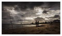 La prière des pêcheurs (Briren22) Tags: plage pêcheurs sable ciel crépuscule contraste lumière contrejour