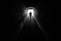 out of darkness (javan123) Tags: tunnel black silhouette shadow fujifilm monochrome