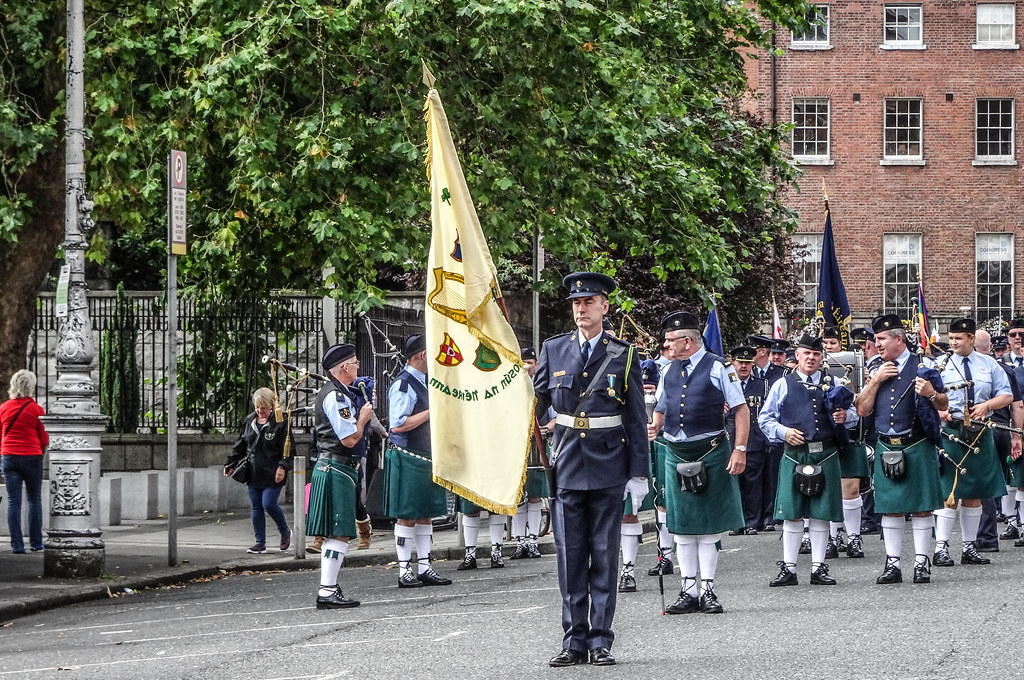 NATIONAL SERVICES DAY [PARADE STARTED OFF FROM NORTH PARNELL SQUARE]-143658