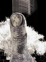Thumbs up (beelzebub2011) Tags: europe france paris ladefense hdr infrared sculpture artwork