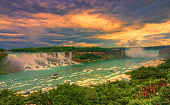 Niagara Falls sunrise (paint filter) (cmfgu) Tags: niagarafalls ontario canada waterfall americanfalls horseshoefalls canadianfalls niagarariver hdr highdynamicrange sunrise colorful clouds sky dawn morning twilight goldenhour paletteknife filter painting craigfildesfineartamericacom fineartamericacom craigfildespixelscom craigfildesphotography artist artistic photograph photo picture prints art wall canvasprint framedprint acrylicprint metalprint woodprint greetingcard throwpillow duvetcover totebag showercurtain phonecase mug yogamat fleeceblanket spiralnotebook sale sell buy purchase gift