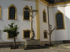 """Das """"Käppele"""", volkstümlicher Name der Wallfahrtskirche Mariä Heimsuchung auf dem Nikolausberg in Würzburg (Travertin) Tags: würzburg käppele kirche wallfahrtskirche mariäheimsuchung nikolausberg"""