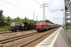 V160 002 te Papenburg (vos.nathan) Tags: v160 002 mietlok pruisische t18 westfalendampf deutsche bundesbahn br 78 baureihe 468 eisenbahntradition lengerich papenburg