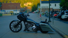 Deadwood Dawn (Tim @ Photovisions) Tags: motorcycle southdakota bike cycle deadwood dawn sunrise harley custom harleydavidson