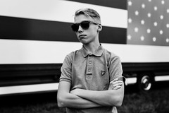 Kris (evelien noens) Tags: portrait people boy outside outdoors flag american america circus truck sigmaartlenses sigma50mmart nikond750