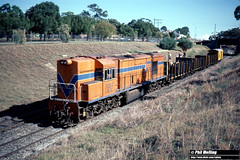 3696 RA1912 sleeper train West Leederville 25 May 1983 (RailWA) Tags: ra1912 sleeper train railwa philmelling westrail 1983 fremantle line west leederville