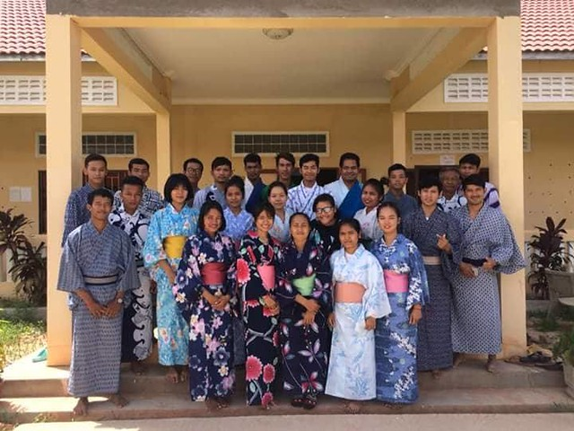 山本日本語教育センターを訪問(シェムリアップ発のオプショナルツアー)