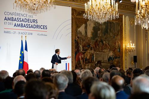 2018-08-27 Elysée, Conférence des ambassadeurs et des ambassadrices
