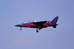 Berlin ILA 2002 Red Bull Alpha Jet (rieblinga) Tags: berlin sxf ila 2002 red bull alpha jet schönefeld analog canon eos 1v 100400mm kodak ebk 100 diafilm