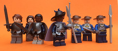 Armies of the Citadel (FxanderW) Tags: lego fantasy medieval figure minifigure custom purist knight wizard witch king queen mage enchantress hero villain troll orc horse cavalry hunter huntress werewolf ranger baron count medusa snake figbarf