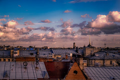 Rooftops (rsvatox) Tags: saintpetersburg urban roofs pointofview russia light city architecture buidings evening sky clouds