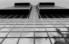 . . . . facade in grey . . . . (christikren) Tags: grey london facade windows reflections christikren city architecture blackwhite fassade geometry glass lines monochrome panasonic photography perspective sky structures