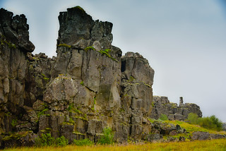 North American Plate Tectonic Plate in Thingvellir National Park - along the Golden Circle - Thingvellir Iceland