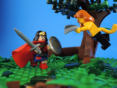 Cheetah Strikes (-Metarix-) Tags: lego super hero minifig dc comics comic wonder woman cheetah strikes forest jungle custom villain universe rebirth