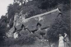 Old Maids Cottage at Lee Ilfracombe Devon 1950 (Bury Gardener) Tags: bw blackandwhite oldies old snaps scans england uk britain 1950s 1950 monochrome mono devon