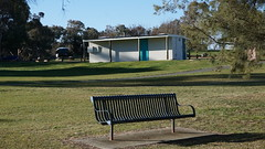 Toilet block and park bench  Lake Ginninderra Belconnen (spelio) Tags: act canberra australia