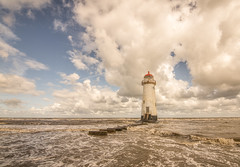All at sea (grbush) Tags: pointofayrlighthouse talacre lighthouse sea seascape water waves ocean beach shore shoreline clouds sky bluesky wales northwales travel sonyilce7 tokinaatx116prodxaf1116mmf28
