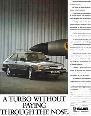 SAAB 900 Turbo (vasiliy.ivanoff) Tags: advertising advertisement ad commercial reclame saab scandinaviandesign sweden swedish turbo saabautomobileab svenskaaeroplanaktiebolaget isthecommandperformancecar itswhatacarshouldbe wedontmakecompromiseswemakesaabs themostintelligentcarseverbuilt saab900turbo 900