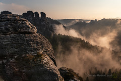 Basteibrücke (gusmartinie) Tags: deep rock natural landscape range sandstone formations swiss pillar shaped scenery saxony nature elbe view bastei outcrop park isolated europe cliff valley germany