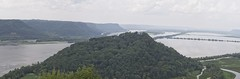 Trempealau Mountain (Mulewings~) Tags: smudgyskies panoramic 4shots mississippi tremplealauriver stateparks