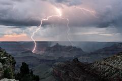 Multi-strike lightning at the Grand Canyon (R Lund photography) Tags: arizona lightning grandcanyon grandcanyonnationalpark