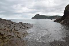 Golden Cove Beach, Berrynarbor (James Mans) Tags: nikon d5500 uk england beach devon seaside sky sigma1750 1750mm28 sea water landscape bay rock mountain