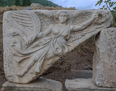 Wings (Adaptabilly) Tags: sculpture wings lumixg1 asia travel stone basrelief goddess turkey efes greek ephesos ephesus izmir tr