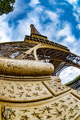 Eiffel Tower's big foot