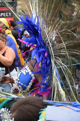DSC_7728 Notting Hill Caribbean Carnival London Exotic Colourful Yellow Turquoise Silver and Blue Costume with Feather Headdress Girls Dancing Showgirl Performers Aug 27 2018 Stunning Ladies (photographer695) Tags: notting hill caribbean carnival london exotic colourful costume girls dancing showgirl performers aug 27 2018 stunning ladies yellow turquoise silver blue with feather headdress
