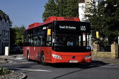 Metroline Yutong E10 (YT1 - YG18 CVS) 603 (London Bus Breh) Tags: metroline metrolinetravel metrolinetravellimited yutong yutonge10 electric electricbus electrictechnology electricvehicle yt1 yg18cvs 18reg london buses londonbuses bus londonbusesroute603 route603 highgate highgatevillage hampsteadlane northroad tfl transportforlondon