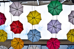 The opposite of love's indifference (Lívia.Monteiro) Tags: umbrella dublin irel color joy colours air flying day outside